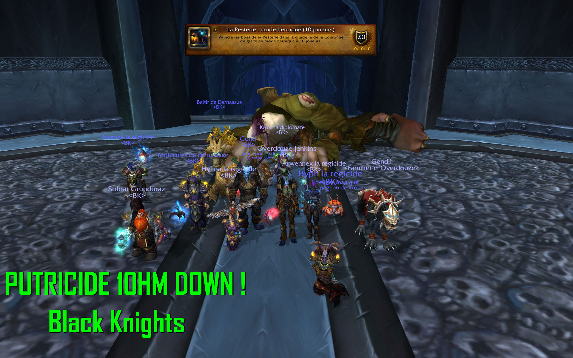 Putricide 10HM Down - 1920 x 1200 - Putricide 10HM Down, Team Black Knights !